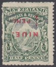 Niue - Interesting Group of Early Overprints